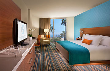 Photograph of the bedroom of Shore Hotel: Room 104.